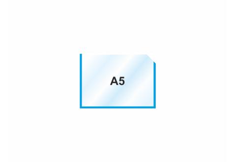 Пластиковый карман А5 горизонтальный самоклеющийся, СИНИЙ