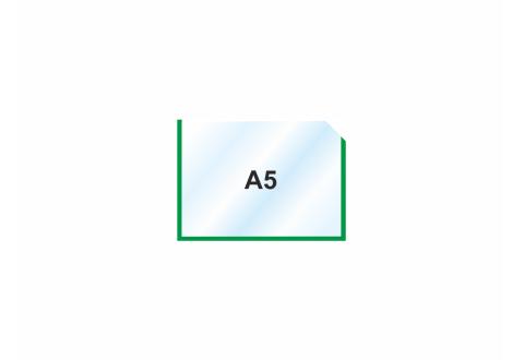 Пластиковый карман А5 горизонтальный самоклеящийся ЗЕЛЕНЫЙ