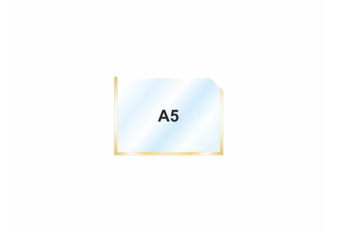 Пластиковый карман А5 горизонтальный самоклеющийся, ЗОЛОТОЙ