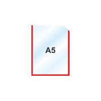Пластиковый карман А5 вертикальный самоклеющийся, КРАСНЫЙ