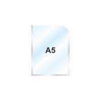 Пластиковый карман А5 вертикальный самоклеющийся, СЕРЕБРИСТЫЙ