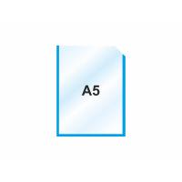 Пластиковый карман А5 вертикальный самоклеющийся, СИНИЙ