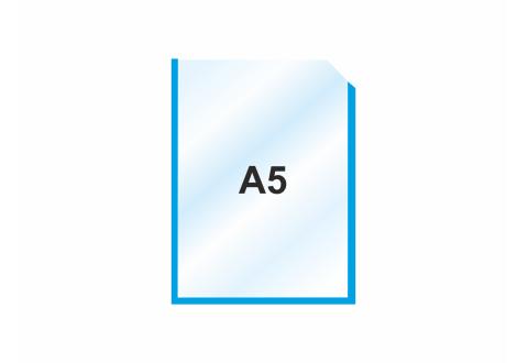 Пластиковый карман А5 вертикальный самоклеящийся, СИНИЙ