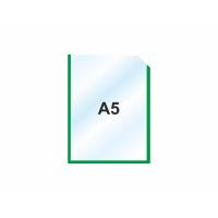 Пластиковый карман А5 вертикальный самоклеющийся, ЗЕЛЕНЫЙ