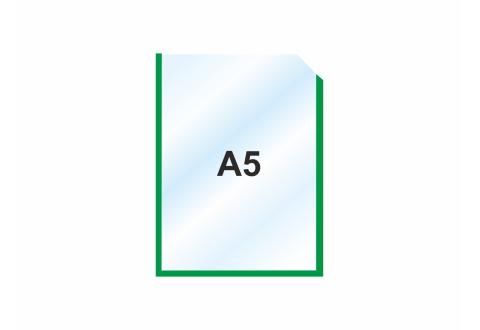 Пластиковый карман А5 вертикальный самоклеящийся, ЗЕЛЕНЫЙ