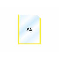 Пластиковый карман А5 вертикальный самоклеющийся, ЖЕЛТЫЙ