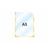 Пластиковый карман А5 вертикальный самоклеющийся, ЗОЛОТОЙ