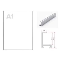 Рамка алюминиевая ПН-01 (Нильсон) А1 серебристая матовая