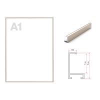 Рамка алюминиевая профиль ПН-01 ЗОЛОТО МАТОВОЕ  размер А1