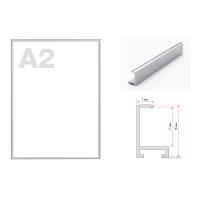 Рамка алюминиевая ПН-01 (Нильсон) А2 серебристая матовая