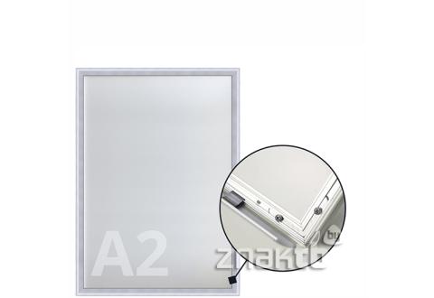 8521 Клик-рамка алюминиевая формата А2