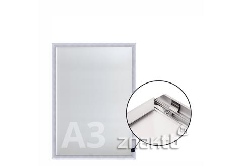 8522 Клик-рамка алюминиевая формата А3