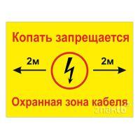 148 знак Охранная зона кабеля