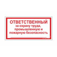 805 Знак Ответственный за охрану труда, производственную и пожарную безопасность