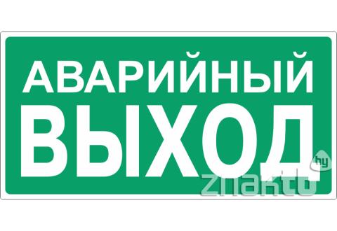 037 Знак Аварийный  выход код Е23
