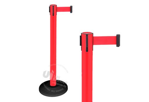 990111 Стойка ограждения пластиковая красная резиновое основание стандарт красная лента