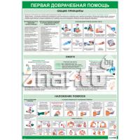 2211 Плакат информационный  Первая медицинская помощь