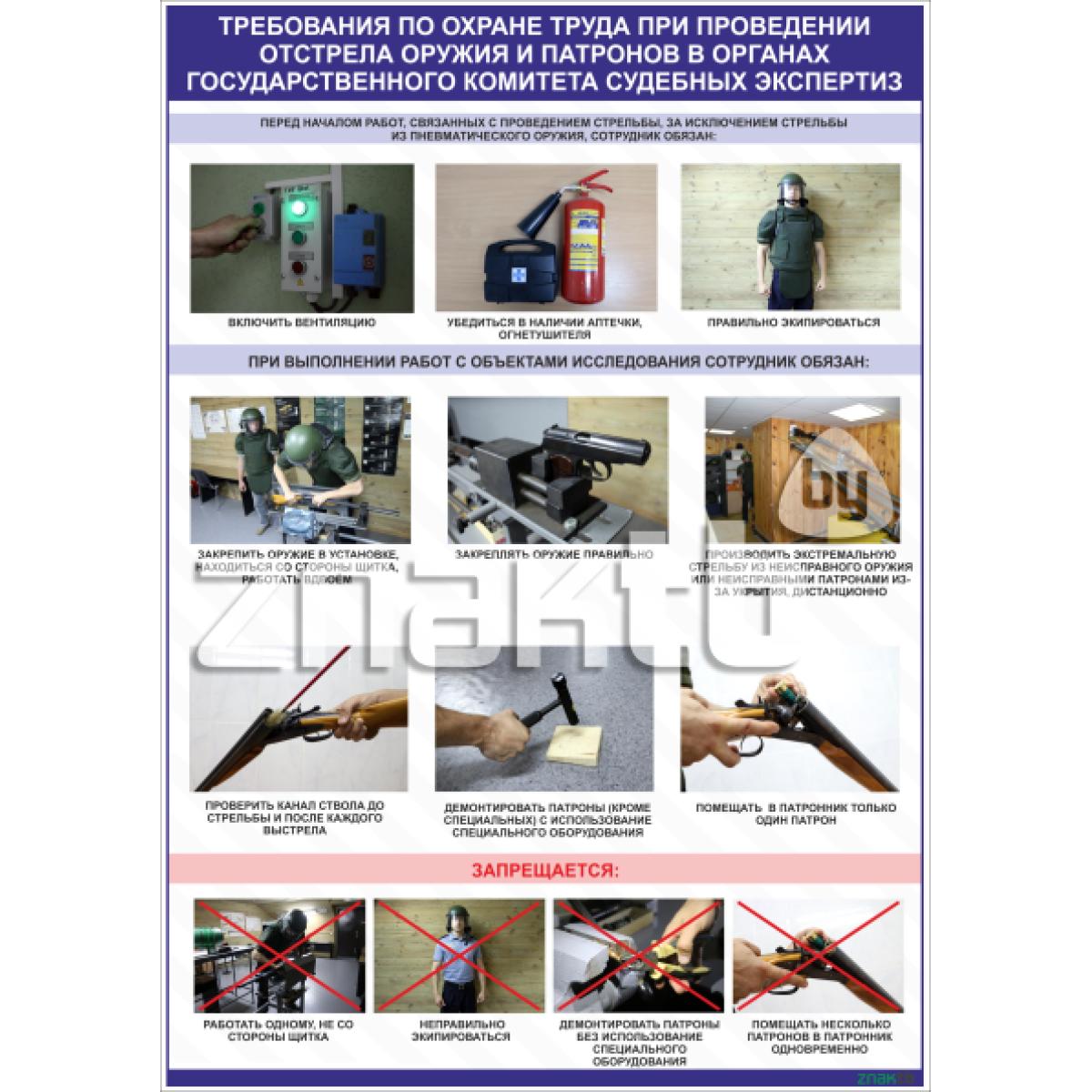 2604 Требования по охране труда при проведении отстрела оружия и патронов
