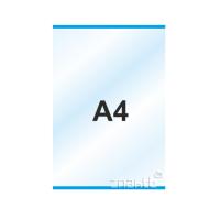 Пластиковый карман А4 вертикальный самоклеящийся с двух сторон