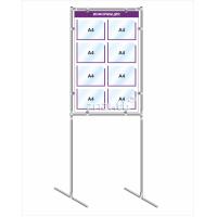 Напольный информационный стенд на 8 карманов А4 4485, 700*1100 мм
