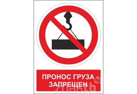 497 Знак Пронос груза запрещен (с поясняющей надписью)