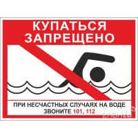 6428 Знак Купаться запрещено