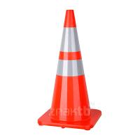 981023 Конус дорожный гибкий с двумя светоотражающими полосами 70 см