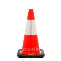 981111 Конус дорожный 45 см гибкий с черным резиновым основанием