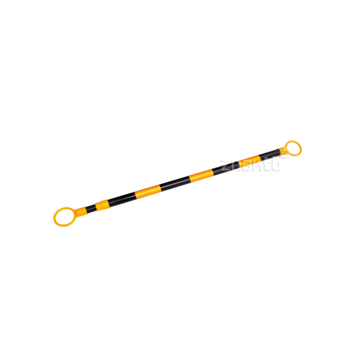 9820 Штанга для конусов чёрно-желтая, перекладина для временного ограждения
