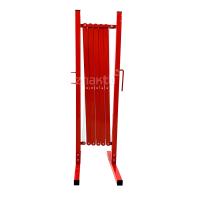 983112 Раздвижное ограждение металлическое 3 м. красно-белое