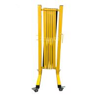 983213 Раздвижное ограждение металлическое на колесиках 3 м. желто-черное