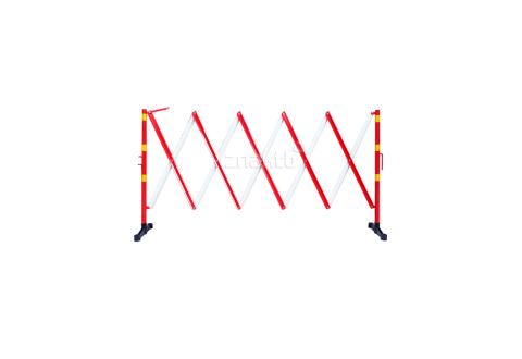 983122 Раздвижное ограждение алюминиевое 3 м. красно-белое