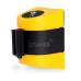 Настенный блок пластиковый желтый с черно-желтой лентой 5 метров