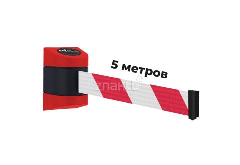 984212 Настенный блок пластиковый красный с бело-красной лентой 5 метров
