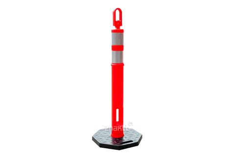9922 Дорожный столбик с цепью основание резиновое 2 светоотражающие полосы
