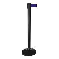 993126 Стойка ограждения черная основание полуконус синяя лента