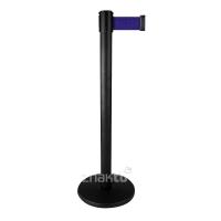 994226 Стойка ограждения черная основание тонкое синяя лента