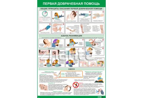 2201 Плакат информационный  Плакат Первая медицинская помощь
