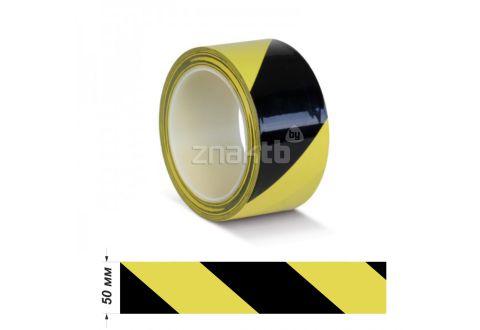 Лента ПВХ для разметки US200, желто-черный 50 мм * 33 м