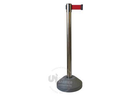 989401 Стойка ограждения металлическая основание заполняемое водой красная лента