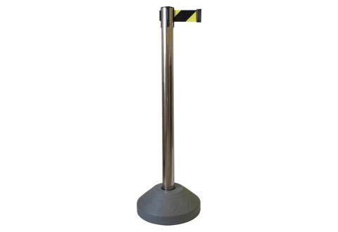 989403 Стойка ограждения металлическая основание заполняемое водой сигнальная лента