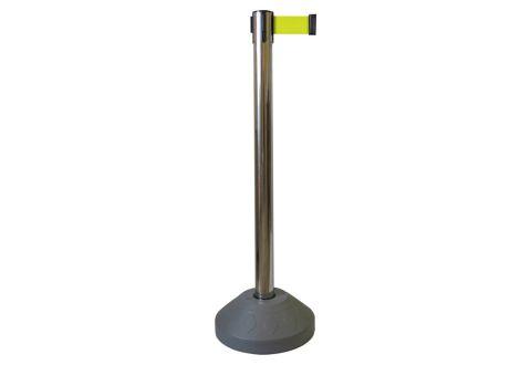 989405 Стойка ограждения металлическая основание заполняемое водой желтая лента