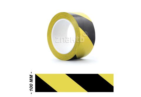 Лента ПВХ для разметки US200, желто/черный 100мм*33м