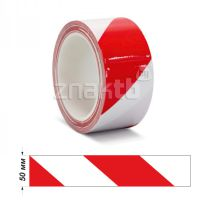 Лента ПВХ для разметки US200, красно-белая 50 мм * 33 м