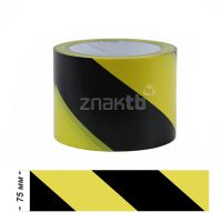 Лента ПВХ для разметки US200, желто-черный 75 мм * 33 м