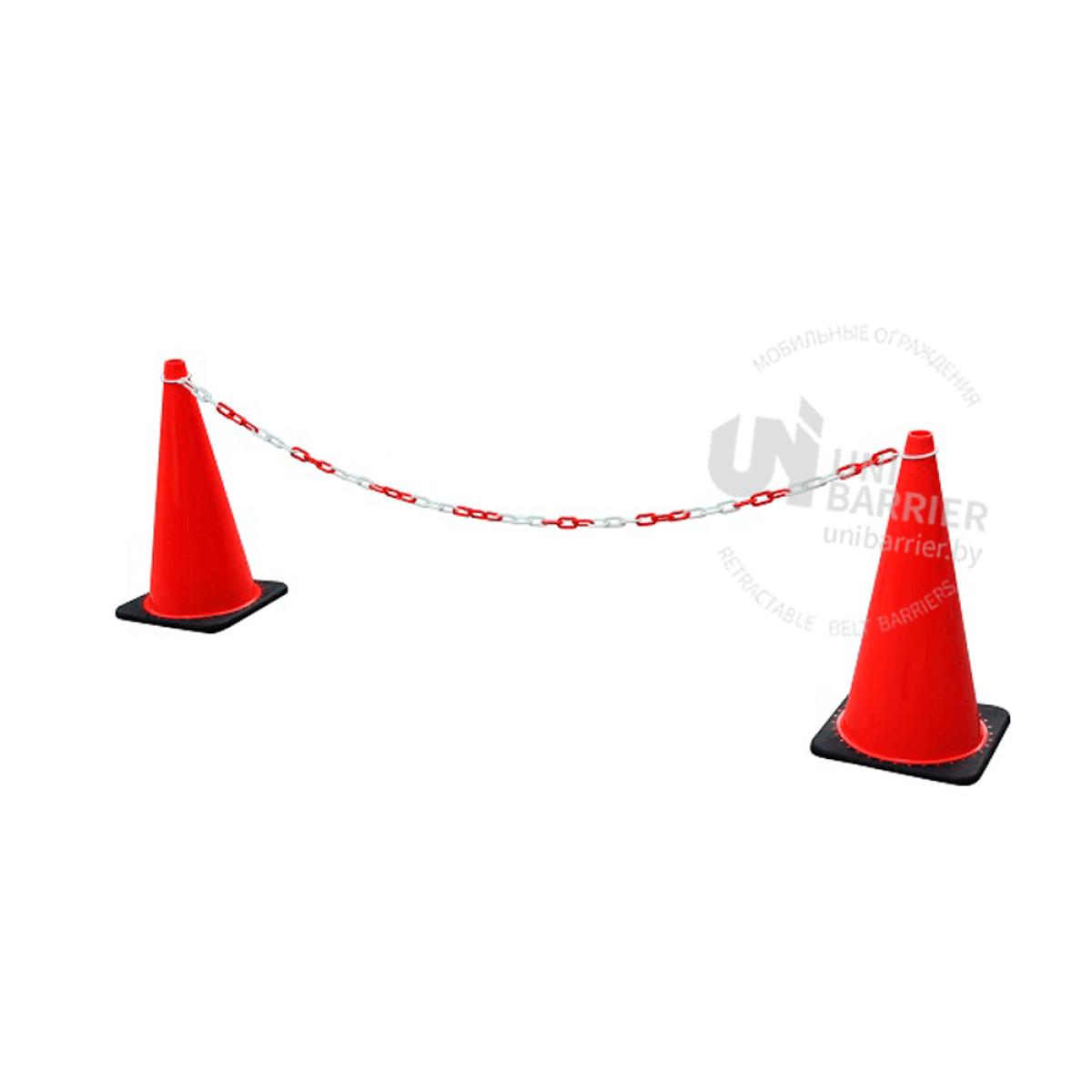 9818 Цепь для конусов красно-белая 2 метра