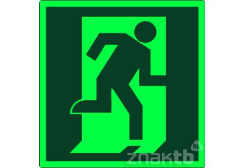 020 Знак Дверь эвакуационного выхода (открывающаяся с правой стороны) фотолюм. код Е01-02