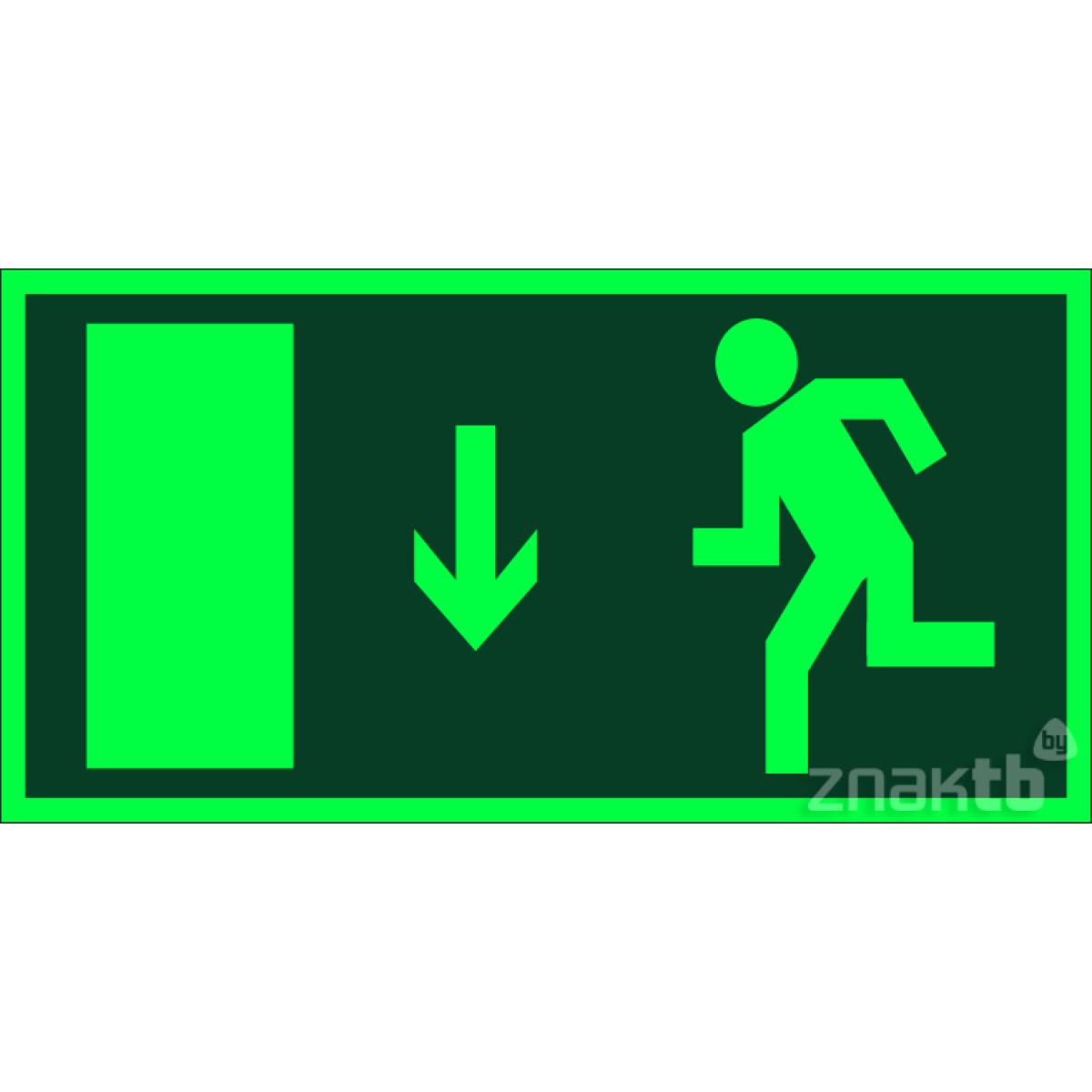 035 Знак Указатель двери эвакуационного выхода (правосторонний) фотолюм.