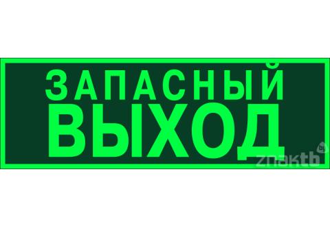 037 Знак Запасный выход фотолюм. код Е23