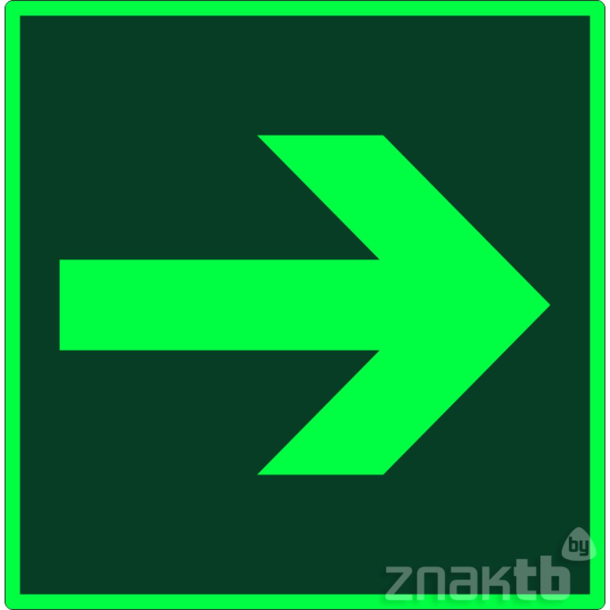 040 Знак Направление эвакуации фотолюм. код Е02-01